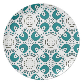 Melamine plate Jimette green Design on white