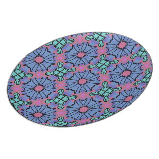 Melamine plate Jimette pink and blue Design