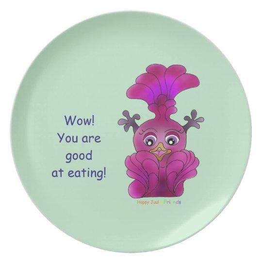 "Melamine Plate ""Lila"""