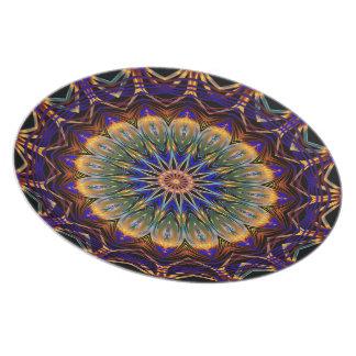Melamine plate Mandala
