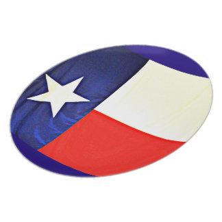 Melamine Plate of Texas Flag