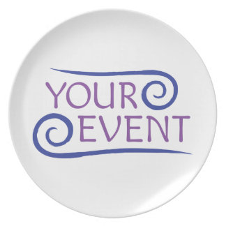 Melamine Plate with Custom Event Logo Promotional
