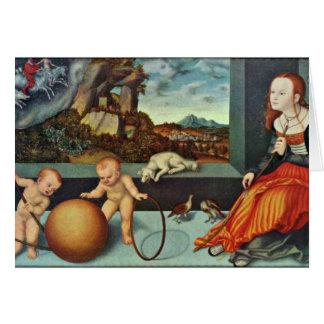Melancholy By Cranach D. Ä. Lucas (Best Quality) Card