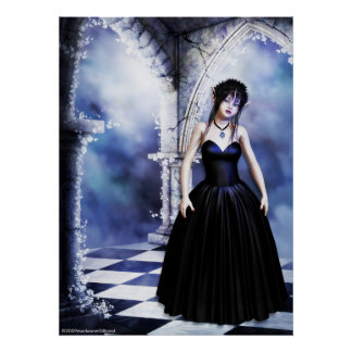 Melancholy Day Dreams Gothic Art Poster
