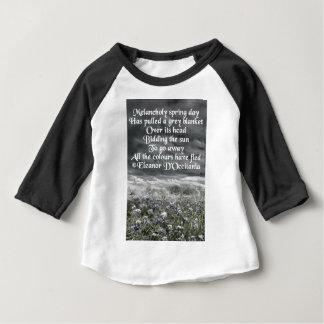 Melancholy Spring Day Poetry 3/4 Sleeve Raglan Baby T-Shirt