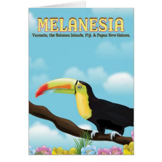Melanesia Toucan travel poster Card
