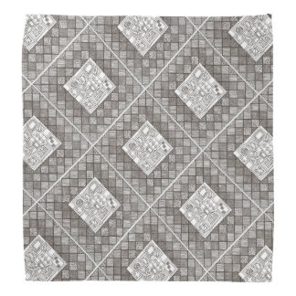 Melange-Abstract Geometric Doodle Pattern Bandana