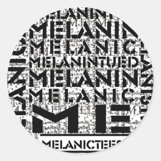Melanic Tees Concrete Round Sticker