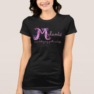 Melanie girls M name meaning monogram t-shirt