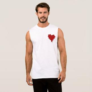 Melanie. Red heart wax seal with name Melanie Sleeveless Shirt