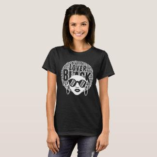 Melanin Afro Black Ebony Womens T-Shirt