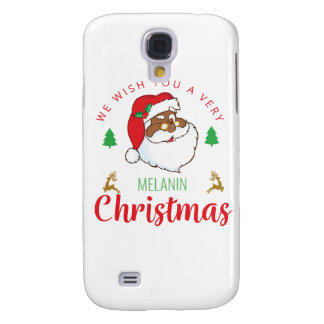 Melanin Christmas afrocentric Santa Galaxy S4 Case