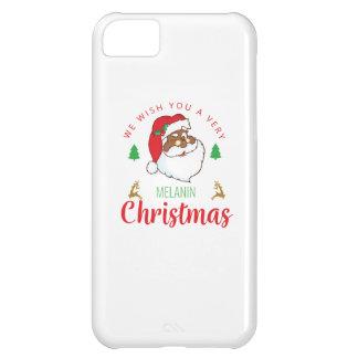 Melanin Christmas afrocentric Santa iPhone 5C Case