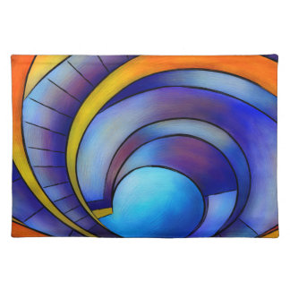 Melanissia - abstract moonrise placemat