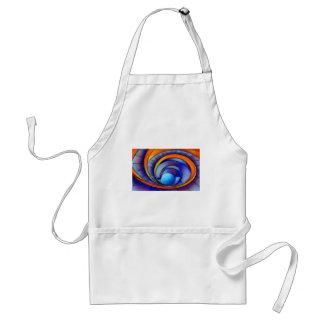 Melanissia - abstract moonrise standard apron