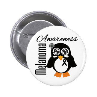 Melanoma Awareness Penguin Pinback Buttons