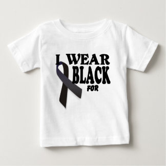Melanoma Awareness Ribbon I wear Black for logo. Baby T-Shirt