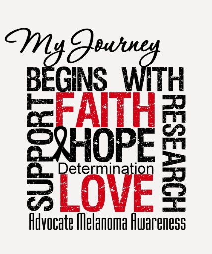 Melanoma Cancer My Journey Begins With FAITH T-shirt
