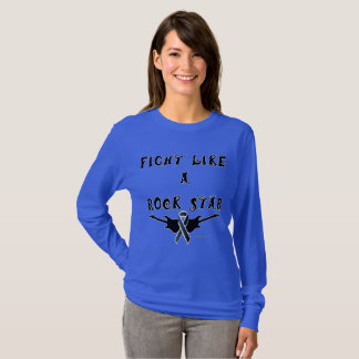 Melanoma Rock Star Ladies Long Sleeve Shirt