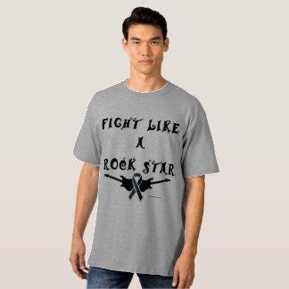 Melanoma Rock Star Men's Tall T-shirt