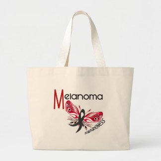Melanoma Skin Cancer BUTTERFLY 3 1 Tote Bags
