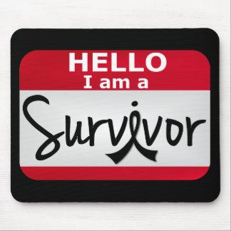 Melanoma Survivor 24 png Mousepad