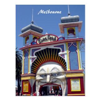 melb luna park face post cards