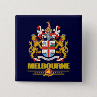Melbourne 15 Cm Square Badge