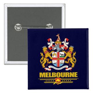 Melbourne 15 Cm Square Badge