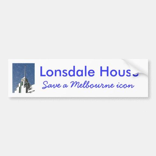 Melbourne Art Deco - Lonsdale House Bumper Stickers