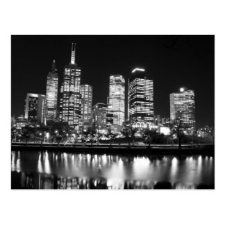 Melbourne At Night Postcard