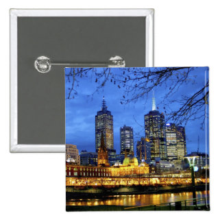 Melbourne, Australia. A nighttime view of the 15 Cm Square Badge