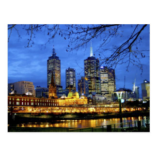 Melbourne Australia A nighttime view of the Post Card