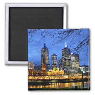 Melbourne, Australia. A nighttime view of the Square Magnet