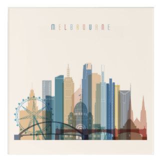Melbourne, Australia | City Skyline Acrylic Wall Art