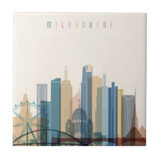 Melbourne, Australia | City Skyline Ceramic Tile