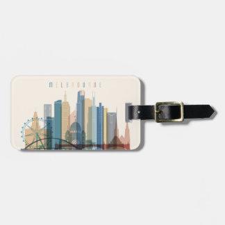Melbourne, Australia | City Skyline Luggage Tag