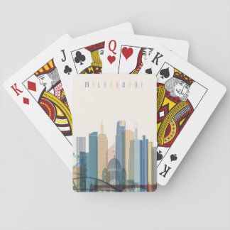 Melbourne, Australia | City Skyline Playing Cards