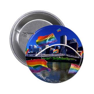 Melbourne, Australia Pride 6 Cm Round Badge
