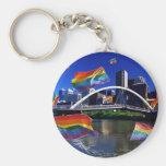 Melbourne, Australia Pride Basic Round Button Key Ring