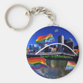Melbourne, Australia Pride Key Ring