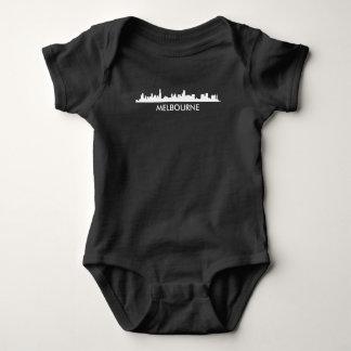 Melbourne Australia Skyline Baby Bodysuit