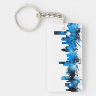 Melbourne Australia Skyline Double-Sided Rectangular Acrylic Key Ring