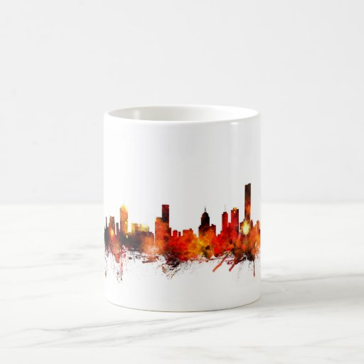 Melbourne Australia Skyline Coffee Mugs