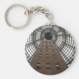 Melbourne Central Historic Shot Tower Basic Round Button Key Ring