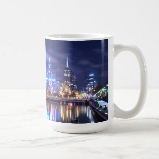 Melbourne city cityscape skyline mug