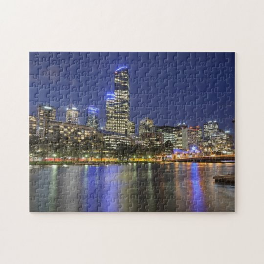 Melbourne City Over Yarra Jigsaw Puzzle