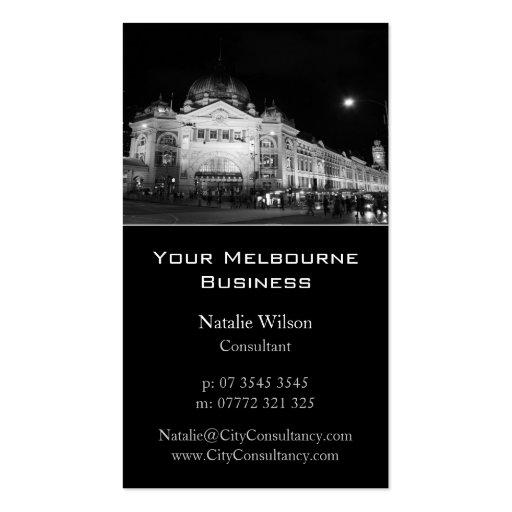 Melbourne City Skyline - Business Card
