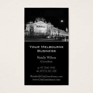 Melbourne City Skyline - Business Card