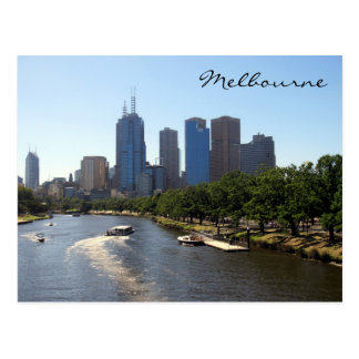 melbourne distant skyline post card